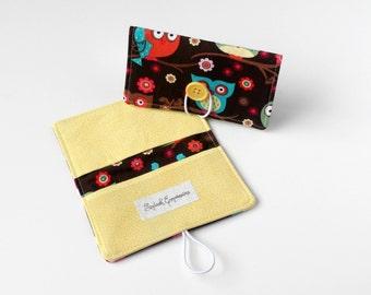 Checkbook Wallet, Checkbook Cover, Checkbook Holder, Cash Envelope, Fabric Checkbook, Colorful Checkbook, Carbon Copy, With Register, OWLS
