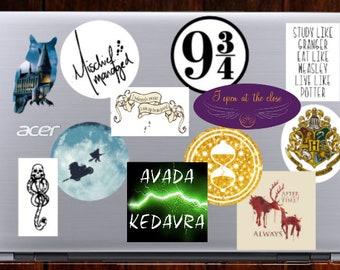 Harry Potter Stickers - Sticker Set - Sticker Pack - Sticker Bomb - 9 3/4 - Mischief Managed - Dark Mark - Avada Kedavra - Solemnly Swear