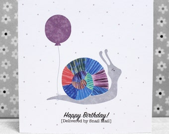 The Snail Card - Sent by SNAIL mail!