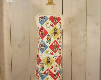 Yippee Classic Toddler Apron - Reversible apron, full apron, apron with pockets, aprons for kids