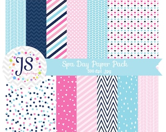 INSTANT DOWNLOAD, spa digital paper for commercial use or personal use