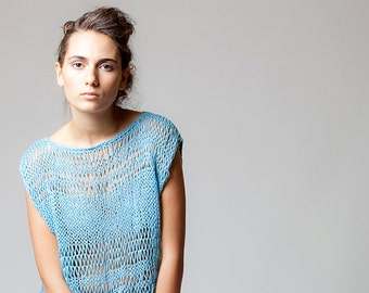 Hand knitted top