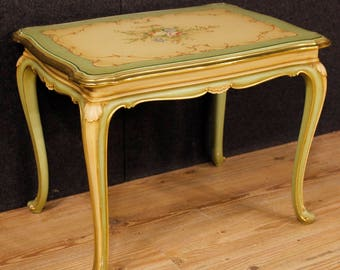 Italian lacquered, gilded and painted coffee table in wood