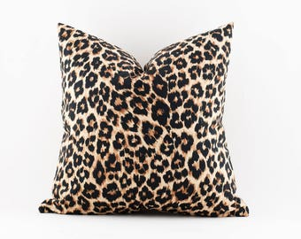 Leopard Print Pillow 12x18 and 20x20