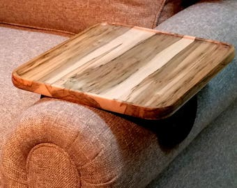 Sofa Arm Table, wood TV tray table, snack tray, sofa tray table, arm rest tray table, couch arm table, dad gift, fathers day gift