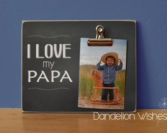 Personalized Gift, Custom Picture Frame  {I LOVE MY...}  Gift For Grandpa, Gift For Grandma, Mom Gift, Dad Gift, Personalized Picture Frame