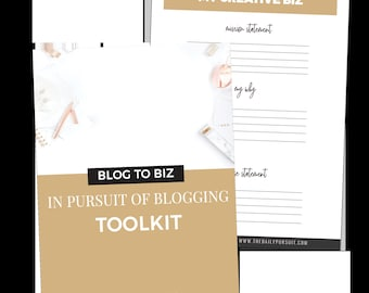 In Pursuit of Blogging Toolkit, Blogger Toolkit, Blog Planning Sheets