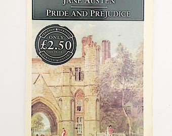 Post Card : Pride And Prejudice by Jane Austen , authentic book cover post card