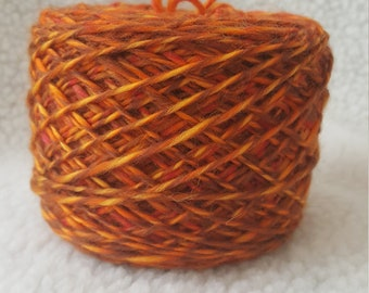 hand spun combed top merino wool singles yarn dk weight 3.8 ounces