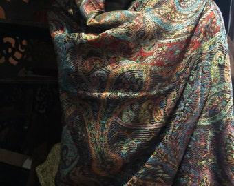 Nemesis Vintage Paisley Brocade Pashmina Scarf Wrap shawl