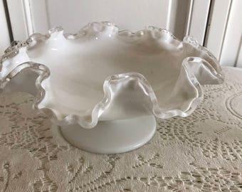 Fenton Silver Crest Bridal Bowl