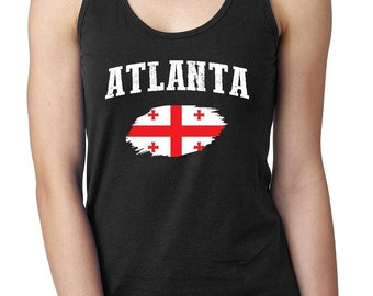 Atlanta Georgia Women Tops Next Level Racerback Tank Top