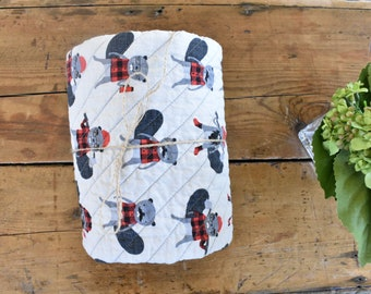 Burly beavers quilt   lumberjack   woodland   plaid   boy quilt   baby quilt   baby gift