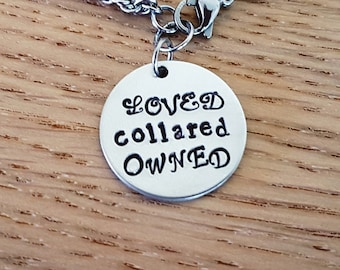 Loved Collared Owned Day Collar Necklace ddlg bdsm Master slave Dom sub