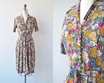Brighter Days dress | vintage 1950s floral dress | silk 50s dress