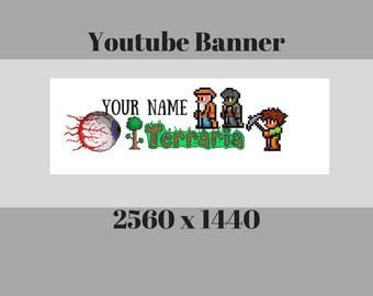 Terraria/ YouTube Channel Banners /Channel Art /Personalized