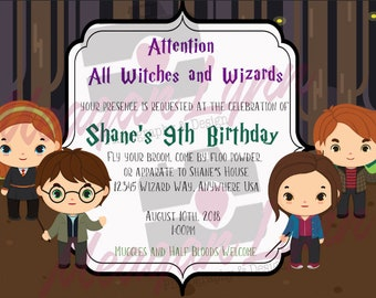 Harry Potter Invitations *DIGITAL*