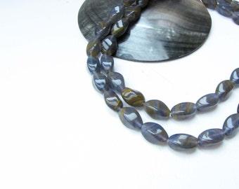 Purple Glass Bead Tan Clear Jewelry Necklace Bracelet Jewelry Supply for Handmade Jewelry Supply  #114