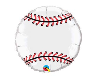 baseball balloon, sports birthday party, 1CT, 18 inches, foil balloons, graduation, all stars, team banquet, athletic event, Fathers Day