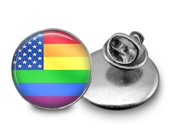 Rainbow Flag Pin/  Rainbow Flag/ LGBTQ Pin/ Rainbow Pin/ Gay Pin/ LGBTQ Button/ Gay Button/ Gay Flag Pin/ Magnet