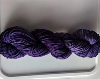 Yarn, DK Yarn, Hand Dyed Yarn, Purple Yarn,  Superwash Merino Wool -  African Violet