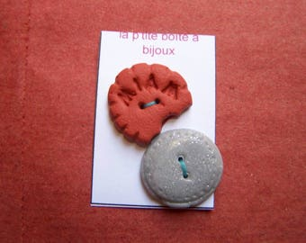 lot 2 choices polymer clay buttons