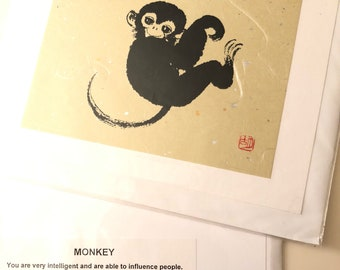 Chinese Year of the Monkey Greeting Card