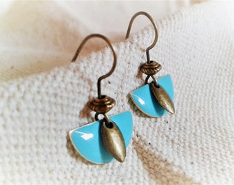Small modern Turquoise earrings