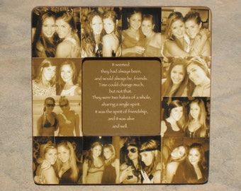 "Maid of Honor Collage Picture Frame, Custom Collage Bridesmaid Frame, Personalized Sister Gift, Best Friends Collage Frame Gift, 8"" x 8"""