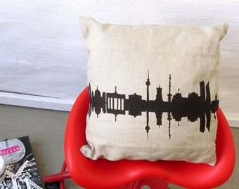 BERLIN Throw Pillow Linen, Berlin Pillowcase, Berlin Cushion Cover, Berlin Home Decor, Berlin Gift, wedding pillow, Berlin nostalgia