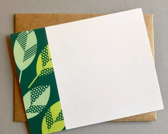 Green Leaf Notecard Set