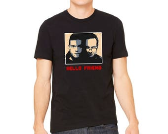 Hello Friend, Mr Robot Black T-Shirt, LJ #50