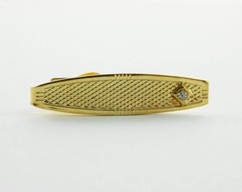 Linwood Gold Crystal Tie Clip