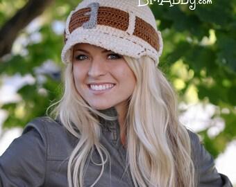 Crochet Jeans Style Brimmed Hat Pattern (PDF FILE)