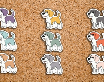 42 Beagle, Dog, Man's Best Friend Icon Stickers for 2017 Inkwell Press IWP-DC48