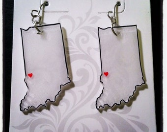 State Outline Earrings