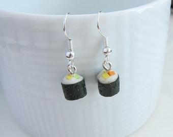 Sushi Roll Dangle Earrings