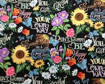 "Got Sunshine, Sunflowers, Wordings, Yellow, Red, Green, Brown, Black 15""x42"", Valance, window Treatment, Free ship, Home & Living, Kitchen"