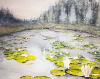 lily pond. art print