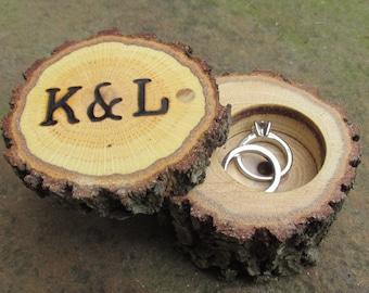 Rustic Wedding Ring Boxes | Wood Ring Boxes | Wooden Ring Boxes | Rustic Ring Bearer Ring Boxes | Country Wedding | Outdoor Wedding Ring Box