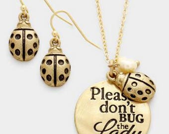 Please don't. Bug today , inspired gold necklace