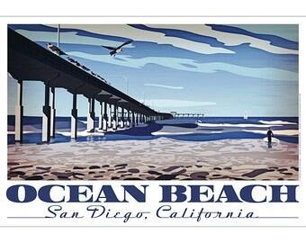 Ocean Beach, San Diego, California Poster
