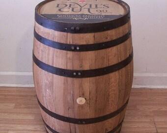 Whiskey Barrel Jim Beam Devil's Cut Kentucky Straight Bourbon -Sanded