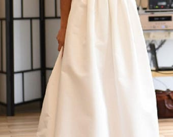 Bridal skirt Wedding Separates skirt with pleats pockets 30 colors Plus size available bridesmaid skirt wedding gown