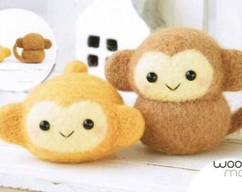 Cute Monkey Duo Needle Felting Kit