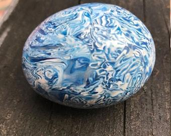 Shaker Egg, Blues, Percussion Egg, Musical Instrument Egg, Real Egg