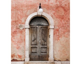Serra di Rapolono Doorway Fine Art Photography Italian architecture Ancient worn weathered Tuscan decor rustic style home decor faded rose