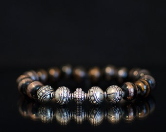 PRICE DROP was 20.00 now 15.00 Black Amber Handcrafted Bracelet