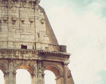Rome photograph, Italy, fine art photo, travel photography, Colosseum, wall art - Colosseum's Crown
