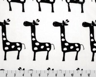 Black Giraffe Premier Prints Minky From Shannon Fabrics